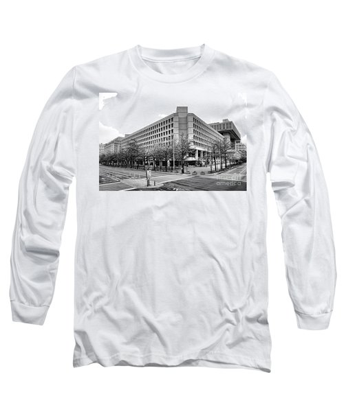 Fbi Building Front View Long Sleeve T-Shirt