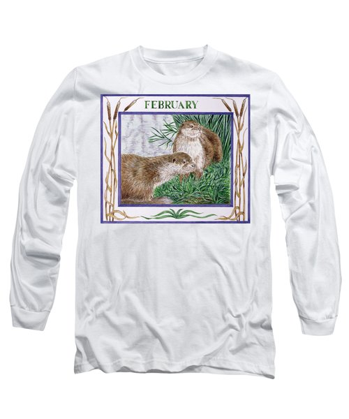 February Wc On Paper Long Sleeve T-Shirt by Catherine Bradbury