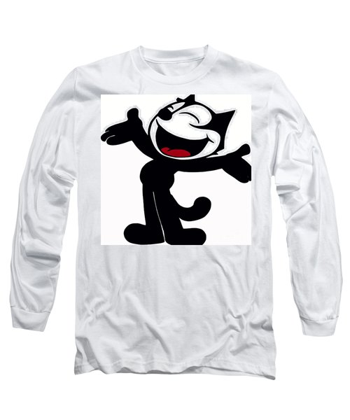 Felix The Cat Long Sleeve T-Shirt by Saundra Myles