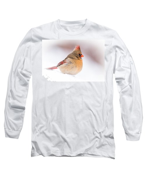 Female Northern Cardinal Long Sleeve T-Shirt
