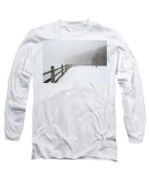 Fence In Fog Long Sleeve T-Shirt