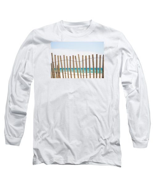 Fence On The Beach Long Sleeve T-Shirt by Shelby  Young
