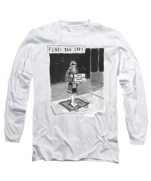 'fendi Bag Lady' Long Sleeve T-Shirt