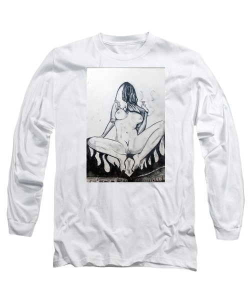 Long Sleeve T-Shirt featuring the drawing Fertility Fertilidad by Lazaro Hurtado