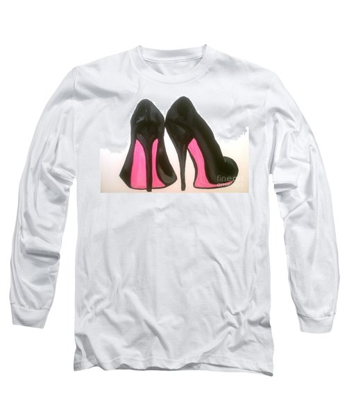 Long Sleeve T-Shirt featuring the painting Fierce by Marisela Mungia