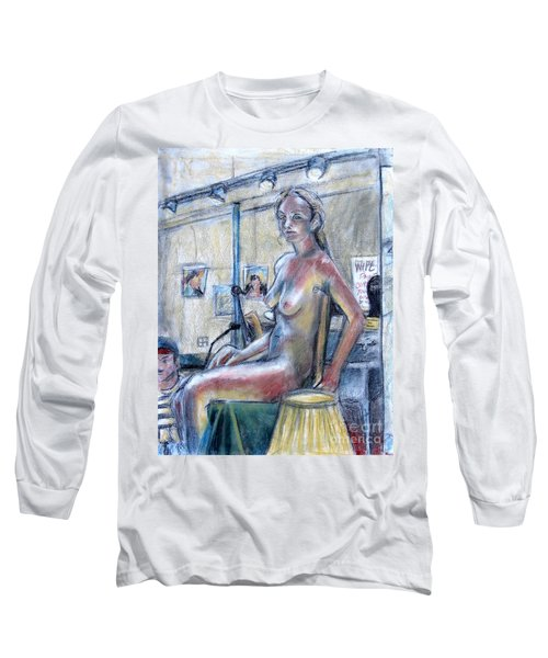 Figure Drawing- Primary Colors  Long Sleeve T-Shirt by Samantha Geernaert