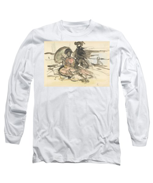 Figure Study Two Women Seated Long Sleeve T-Shirt
