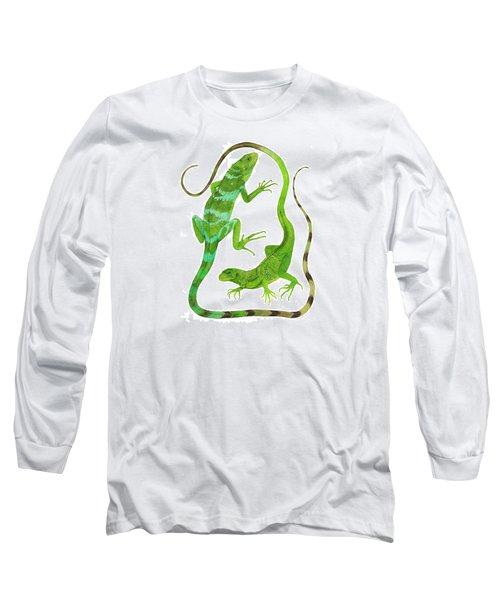 Fijian Iguanas Long Sleeve T-Shirt by Cindy Hitchcock