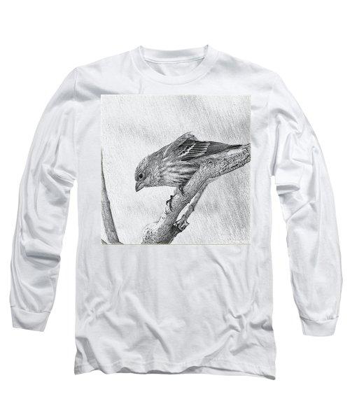 Finch Digital Sketch Long Sleeve T-Shirt