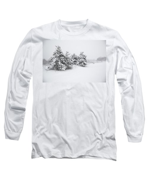 Fir Trees Covered By Snow Long Sleeve T-Shirt