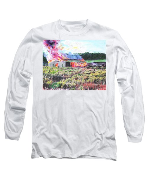 Fire At Whitney Beef Long Sleeve T-Shirt