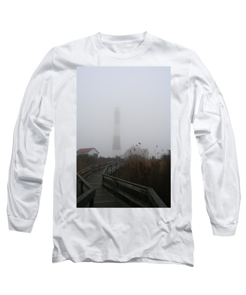 Fire Island Lighthouse In Fog Long Sleeve T-Shirt