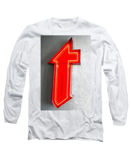 Firestone Building Red Neon T Long Sleeve T-Shirt by Catherine Sherman