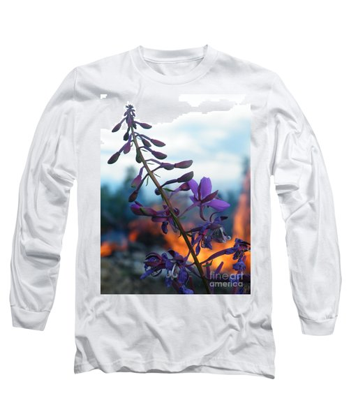 Fireweed Number Five Long Sleeve T-Shirt by Brian Boyle