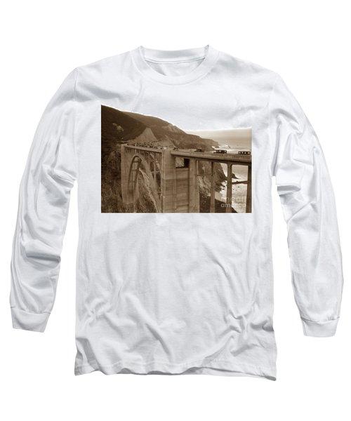 First Cars Across Bixby Creek  Bridge Big Sur California  Nov. 1932 Long Sleeve T-Shirt