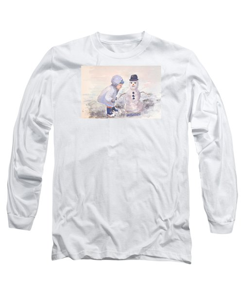 First Snowman Long Sleeve T-Shirt by Genevieve Brown