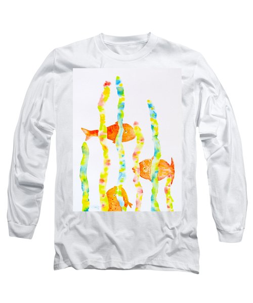 Long Sleeve T-Shirt featuring the painting Fish Fun by Michele Myers