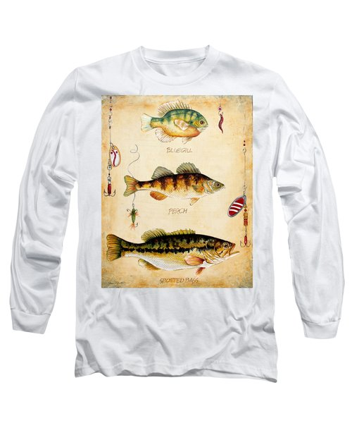 Fish Trio-c Long Sleeve T-Shirt by Jean Plout