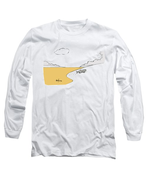 Fish Walking Out Of Toxic Water Long Sleeve T-Shirt