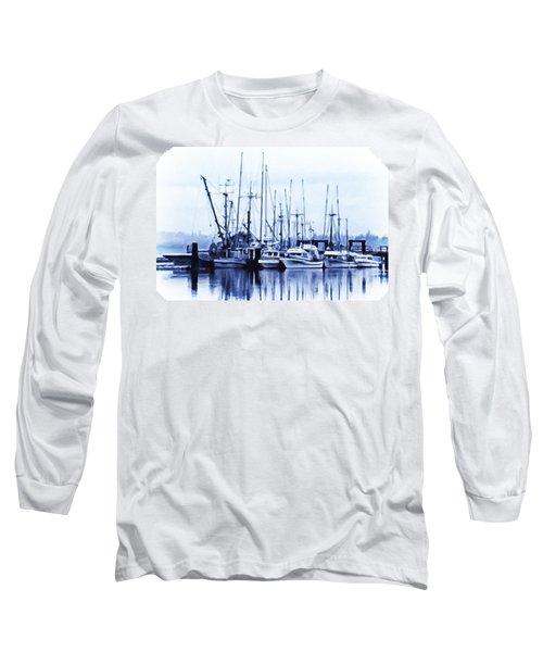 Long Sleeve T-Shirt featuring the digital art Fishers' Wharf by Richard Farrington