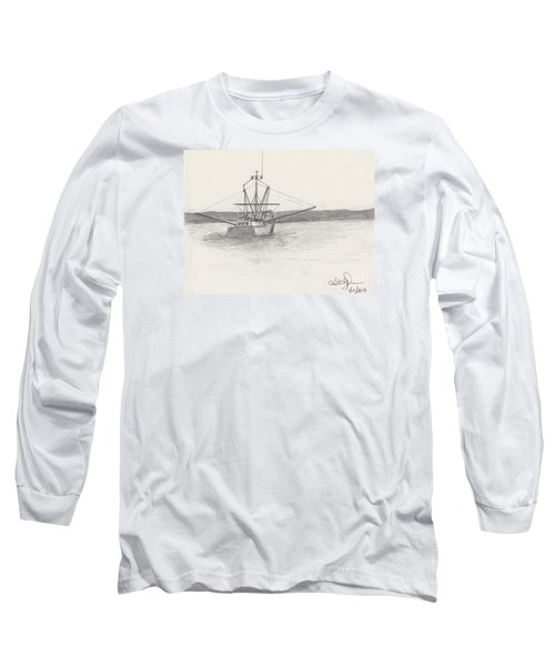 Fishing Boat Long Sleeve T-Shirt by David Jackson