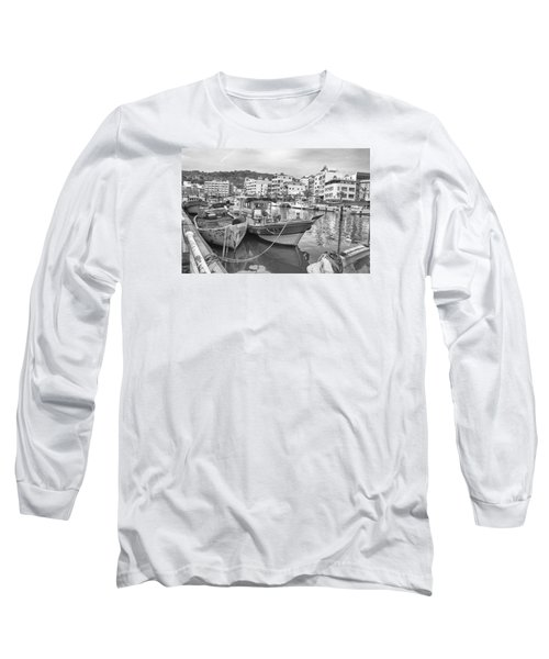 Fishing Boats B W Long Sleeve T-Shirt