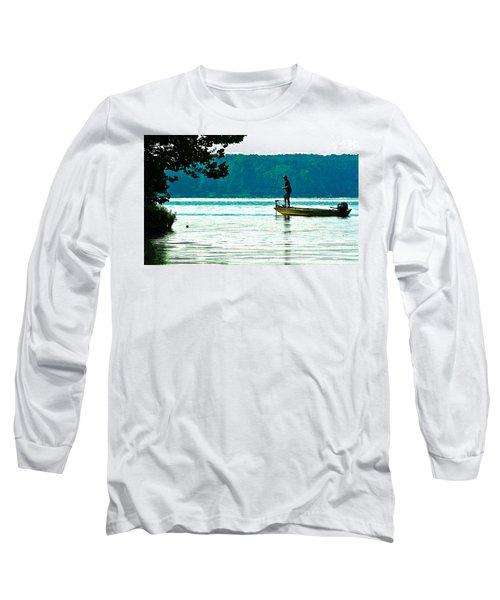 Fishing Crab Orchard Lake Long Sleeve T-Shirt