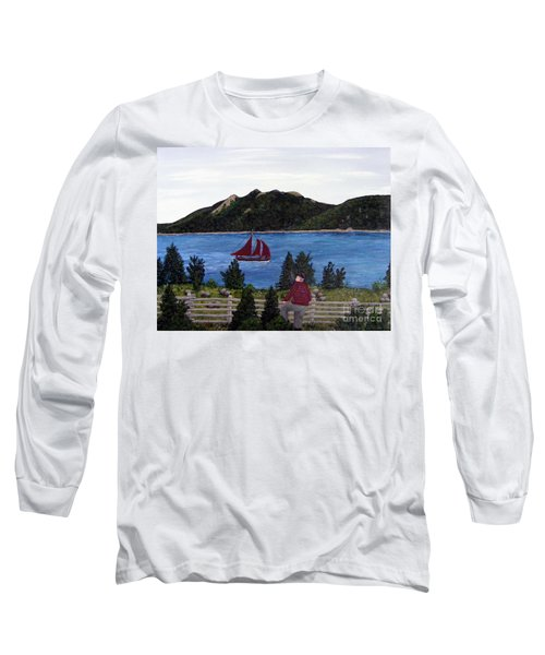 Fishing Schooner Long Sleeve T-Shirt by Barbara Griffin