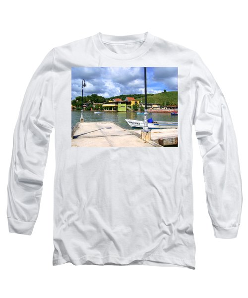 Fishing Village Puerto Rico Long Sleeve T-Shirt
