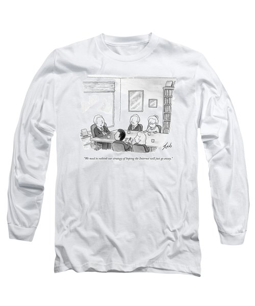 Five People Sit Around A Conference Table Long Sleeve T-Shirt