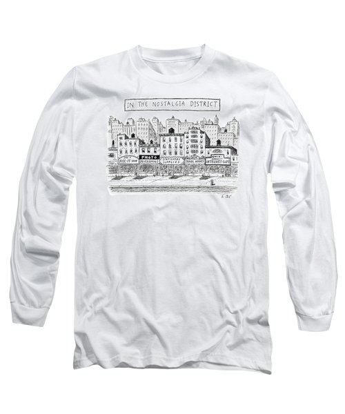 Five Stores On A Street Make-up The Nostalgia Long Sleeve T-Shirt