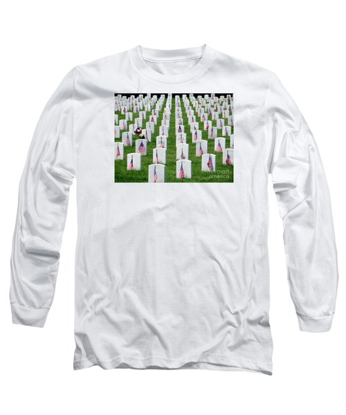 Long Sleeve T-Shirt featuring the photograph Flags Of Honor by Ed Weidman