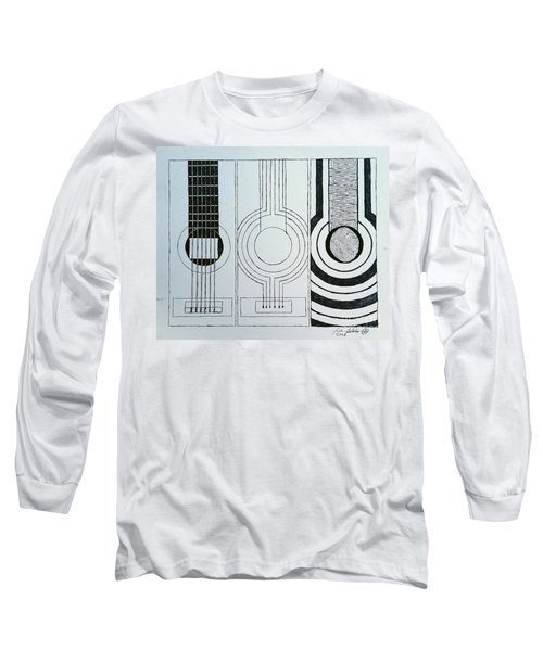 Flamenco Guitar Long Sleeve T-Shirt by Luke Galutia