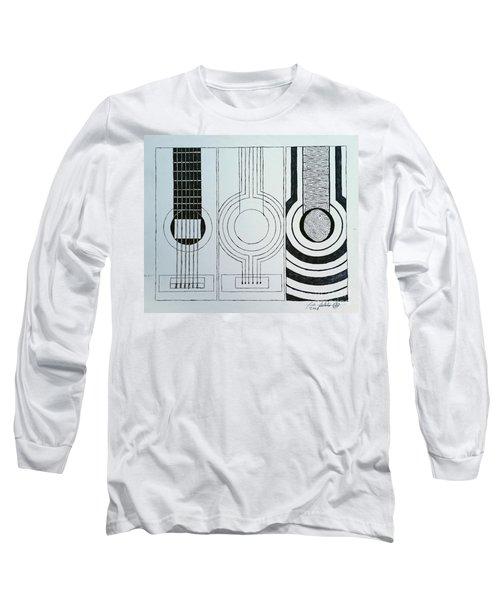 Flamenco Guitar Long Sleeve T-Shirt
