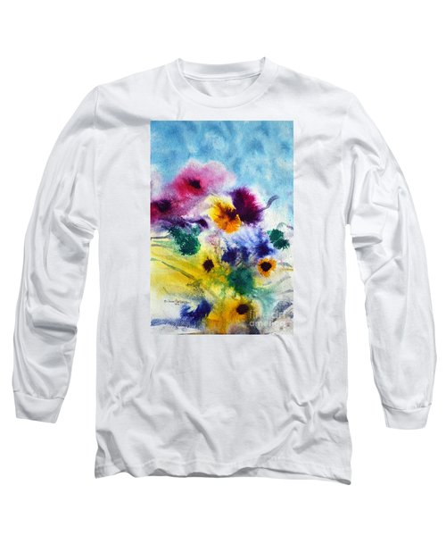 Fleurs Long Sleeve T-Shirt by Joan Hartenstein