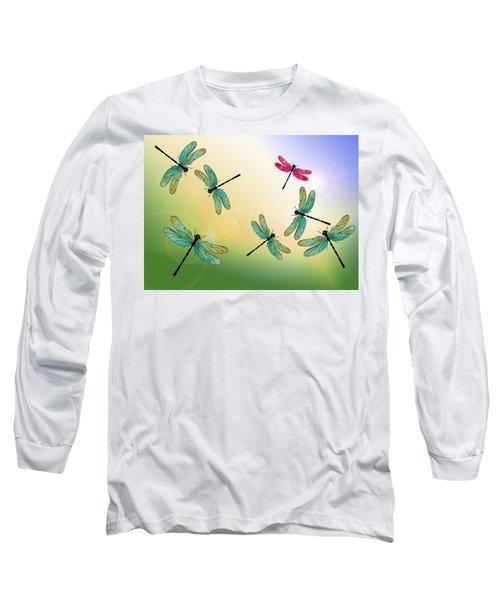 Flight Of The Scarlet Lady Long Sleeve T-Shirt