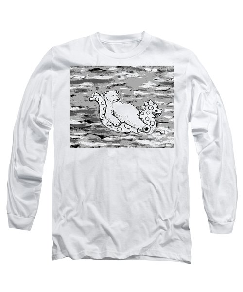 Floating Bear Grisaille Long Sleeve T-Shirt