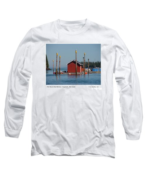 Floating Fish Shack Bay Of Fundy Nb Long Sleeve T-Shirt