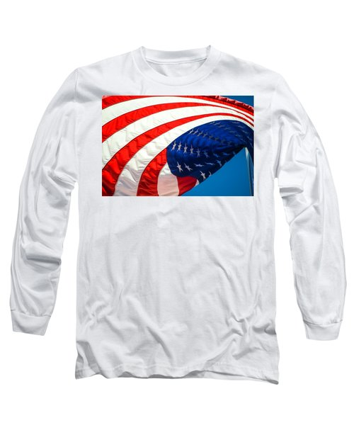 Floating Flag  Long Sleeve T-Shirt