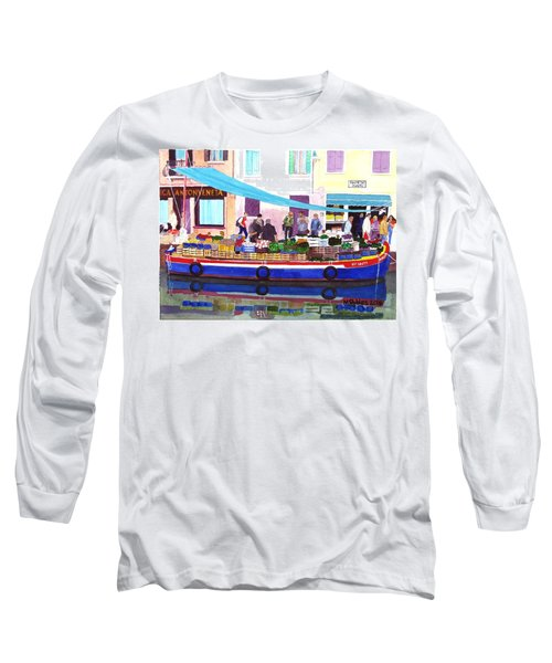 Floating Grocery Store Long Sleeve T-Shirt by Mike Robles