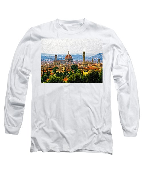 Florence Impasto Long Sleeve T-Shirt by Steve Harrington