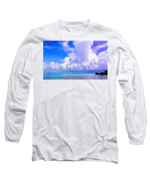 Florida Bay At Shell Pass Filtered Long Sleeve T-Shirt