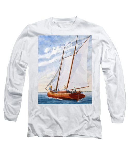 Florida Catboat At Sea Long Sleeve T-Shirt