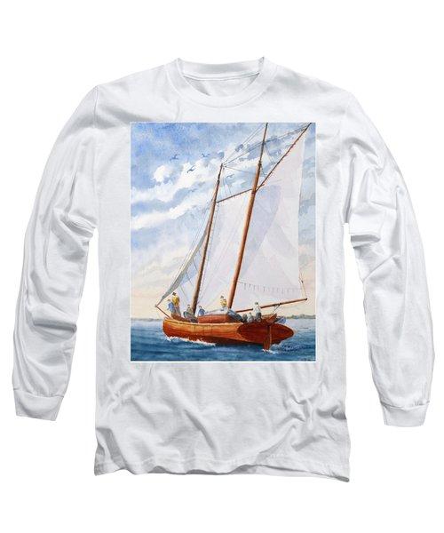 Florida Catboat At Sea Long Sleeve T-Shirt