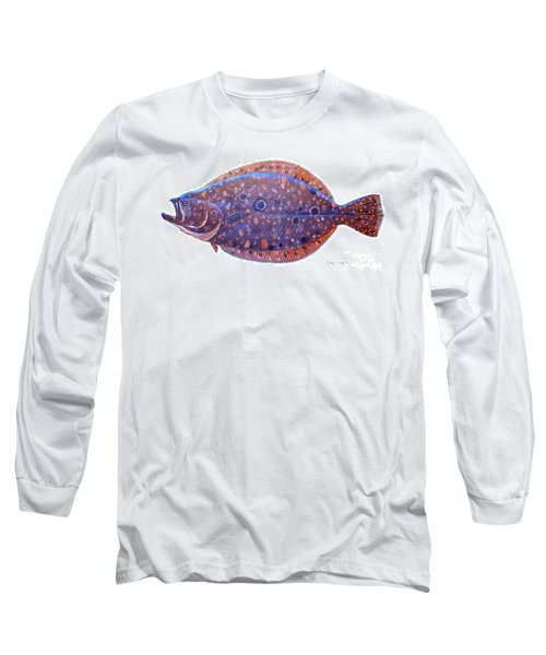 Flounder Long Sleeve T-Shirt by Carey Chen