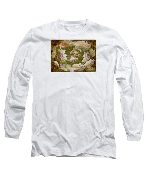 Flower Drift Long Sleeve T-Shirt by Nareeta Martin