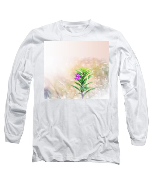 Flower In Watercolor Duvet Long Sleeve T-Shirt
