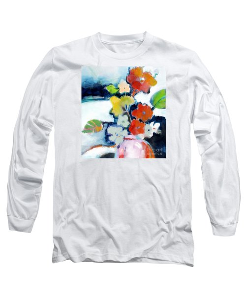 Long Sleeve T-Shirt featuring the painting Flower Vase No.1 by Michelle Abrams