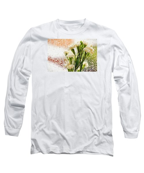 Flowers In Digital Impasto Long Sleeve T-Shirt