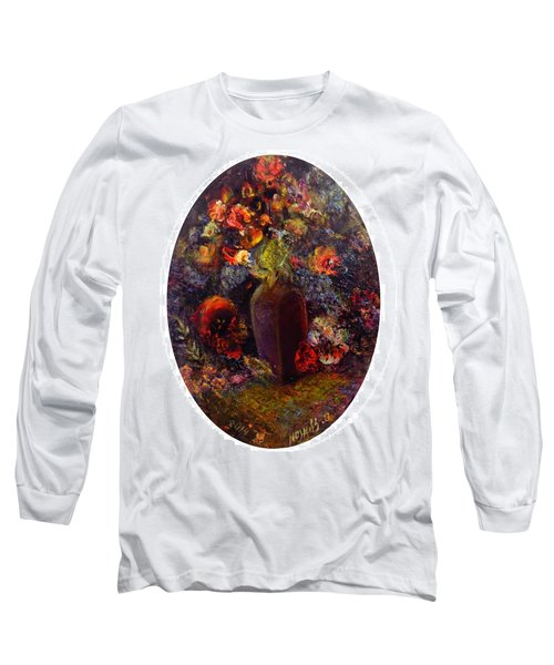 Flowers In Vase Long Sleeve T-Shirt